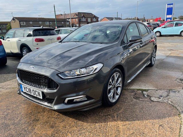USED 2018 18 FORD MONDEO 2.0 ST-LINE TDCI 5d 148 BHP 1 OWNER*NAV*CRUISE*DAB*APPLE CAR PLAY & ANDROID AUTO