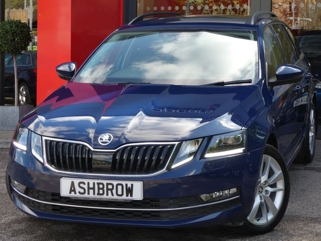 USED 2017 17 SKODA OCTAVIA ESTATE 2.0 TDI SEL 5d 150 S/S 1 OWNER, SAT NAV,CRUISE CONTROL, UPGRADE SPACE SAVING SPARE WHEEL, UPGRADE TOOL KIT, SAT NAV, DAB RADIO, BLUETOOTH PHONE & MUSIC STREAMING,REAR PARKING SENSORS WITH DISPLAY (PARK PILOT), AUX & USB INPUTS,  LEATHER ALCANTARA INTERIOR, SPORT STYLE SEATS, ELECTRIC HEATED FOLDING DOOR MIRRORS, 1 OWNER FROM NEW, FULL SERVICE HISTORY,VAT QUALIFYING