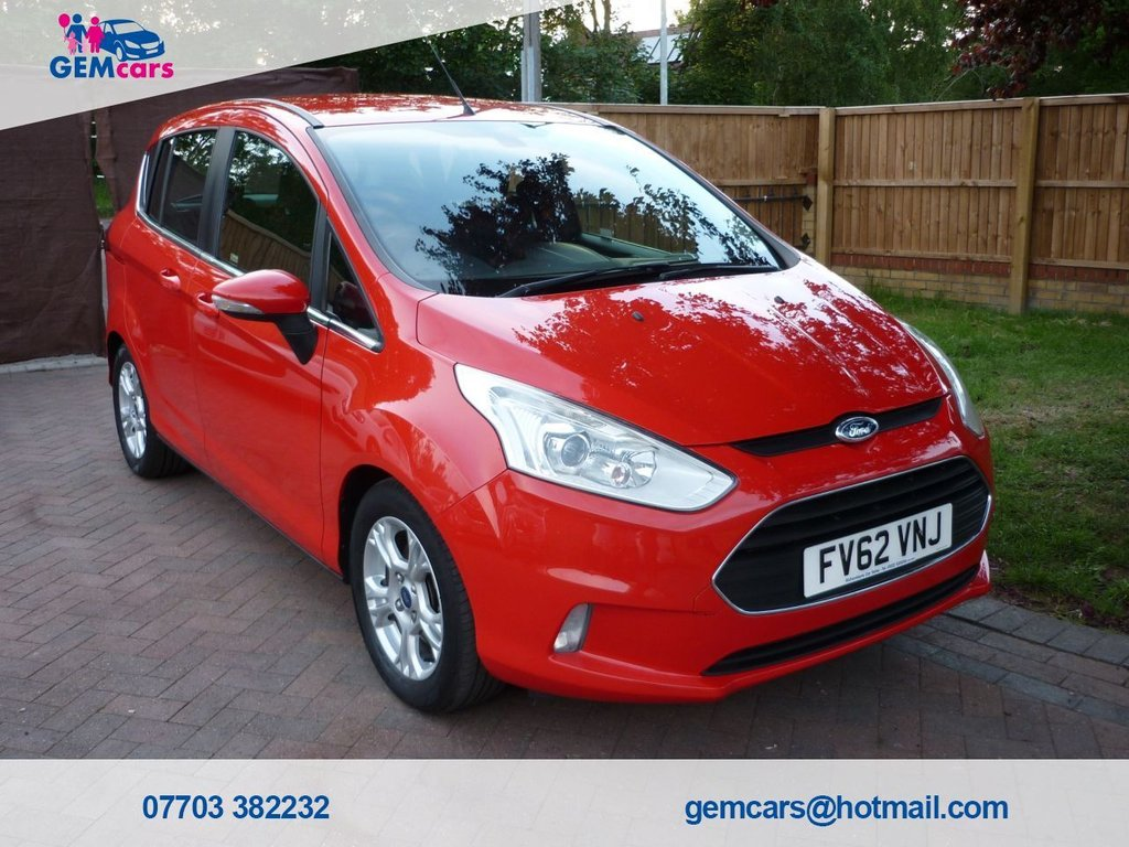 USED 2013 62 FORD B-MAX 1.0 ZETEC 5d 100 BHP GO TO OUR WEBSITE TO WATCH A FULL WALKROUND VIDEO