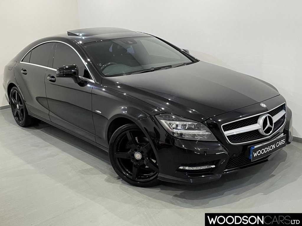 USED 2011 11 MERCEDES-BENZ CLS CLASS 3.0 CLS350 CDI SPORT AMG 4d 265 BHP Sunroof / Sat Nav / Bluetooth / Heated Leather / Privacy Glass / Black Alloy Wheels