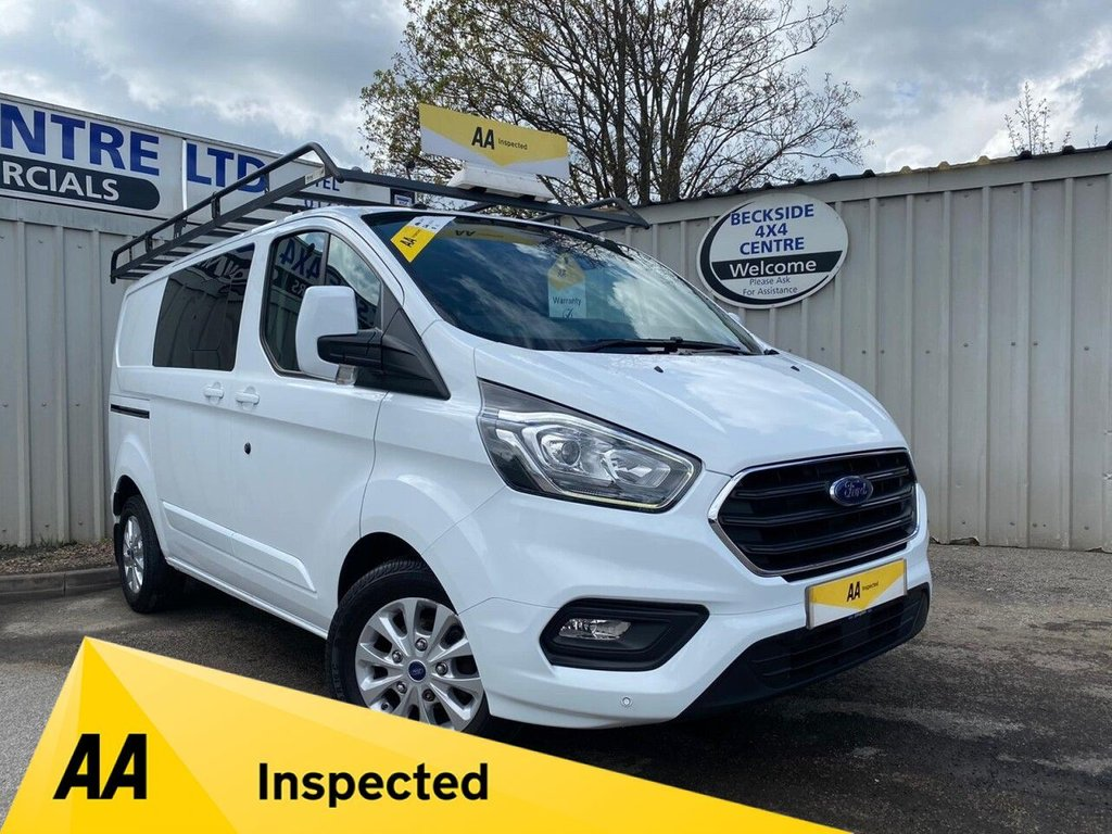 USED 2018 18 FORD TRANSIT CUSTOM 2.0 300 LIMITED DCIV L1 H1 129 BHP NO VAT AA INSPECTED. FINANCE. WARRANTY. HIGH SPEC. LOW MILEAGE. NO VAT. MANY EXTRAS