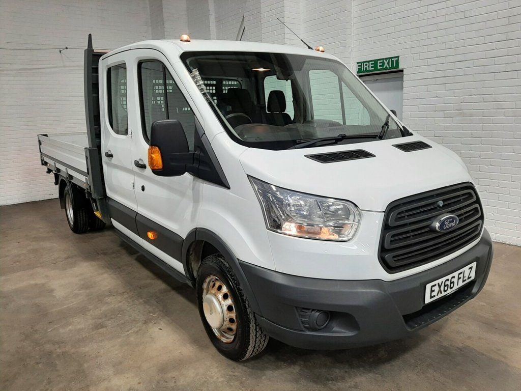 USED 2016 66 FORD TRANSIT ULEZ DC DROPSIDE 350 L4 DRW 3.3m BED 125ps