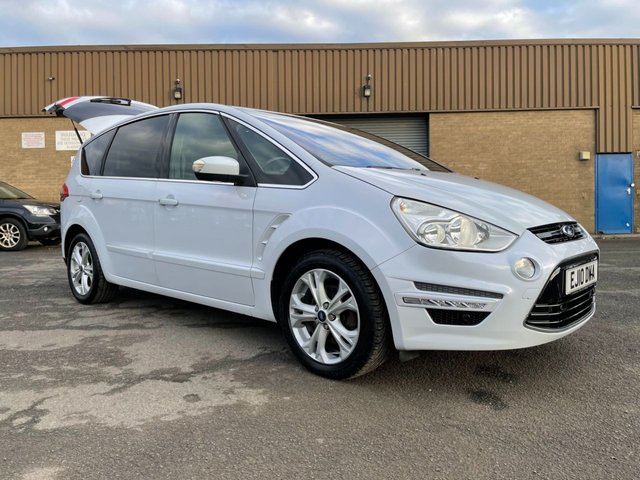 USED 2010 10 FORD S-MAX 2.0 TDCI TITANIUM WHITE FSH 7 SEATS STUNNING EXAMPLE