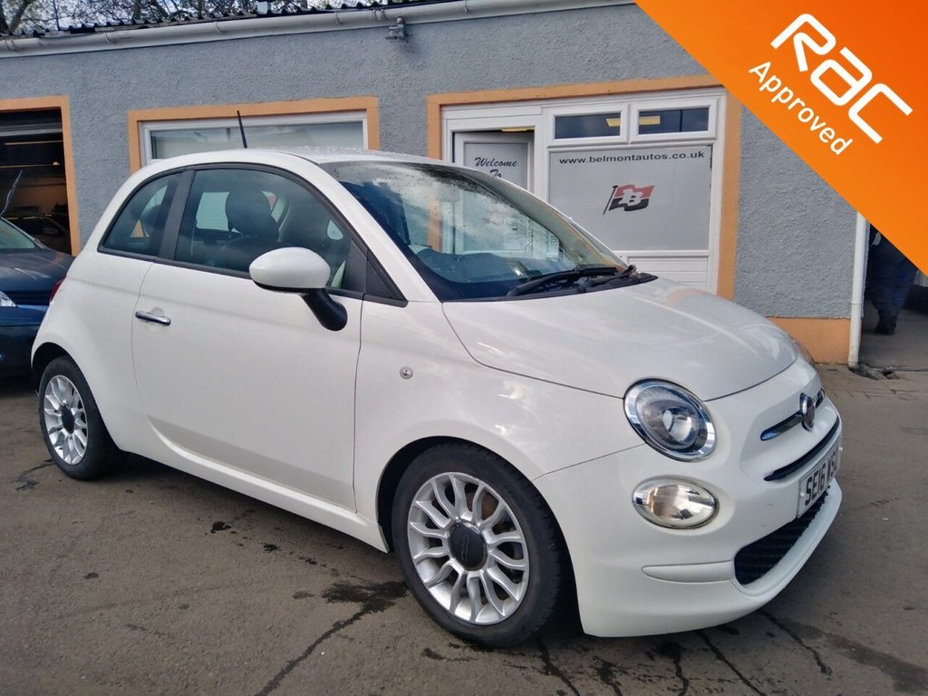 "USED 2016 16 FIAT 500 1.2 POP STAR 3d 69 BHP 15"" Alloys, Remote Central Locking, Front fog lights, 4 Service Stamps, Free RAC Warranty"