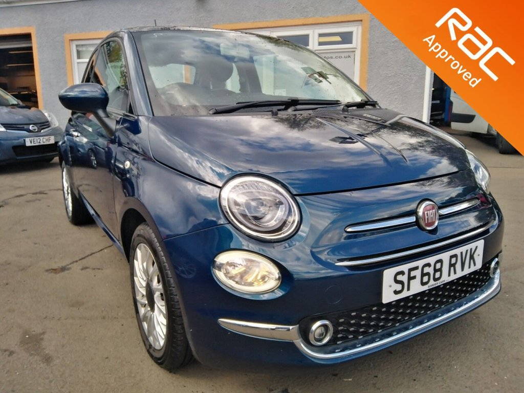 USED 2018 68 FIAT 500 1.2 LOUNGE 3d 69 BHP Panoramic Roof, Bluetooth, Touchscreen Sat Nav, Rear Parking Sensors, Stunning