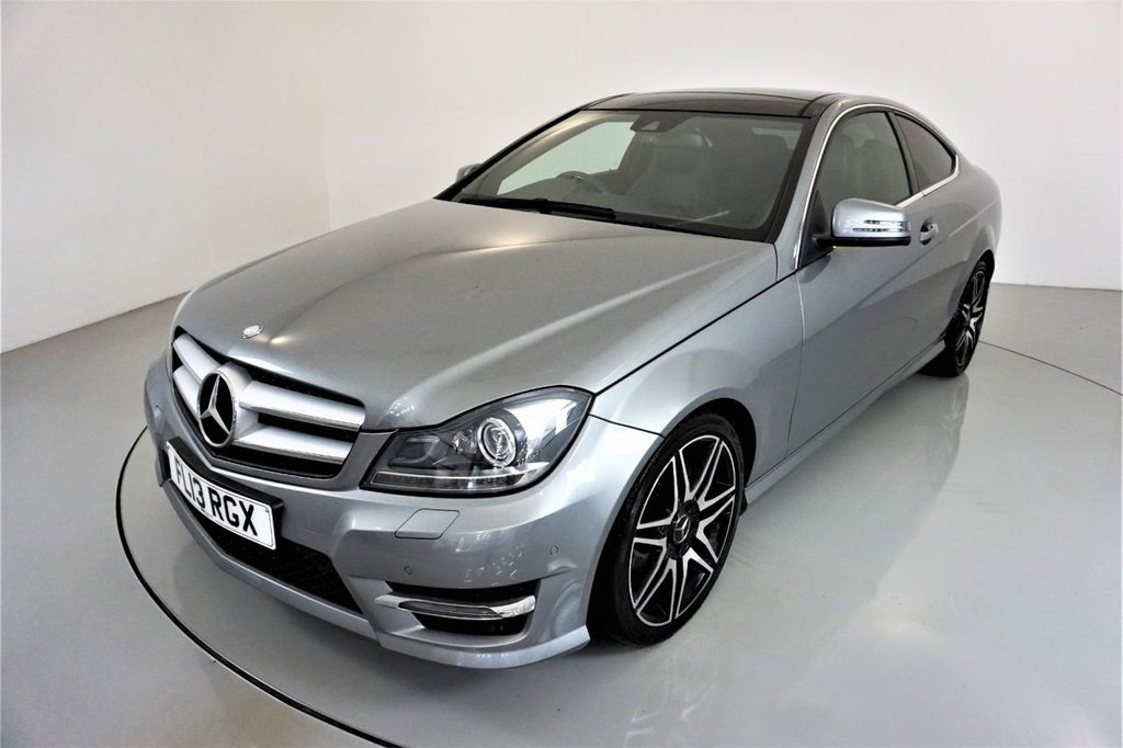 USED 2013 13 MERCEDES-BENZ C-CLASS 2.1 C250 CDI BLUEEFFICIENCY AMG SPORT PLUS 2d AUTO-HEATED HALF LEATHER-PANORAMIC SUNROOF-ELECTRIC FOLDING MIRRORS-HEATED HALF LEATHER-18