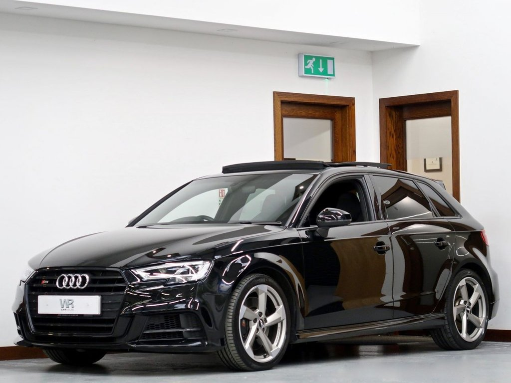 USED 2018 18 AUDI S3 2.0 TFSI Black Edition Sportback S Tronic quattro (s/s) 5dr PAN ROOF +VIRTUAL CP +SS SEATS