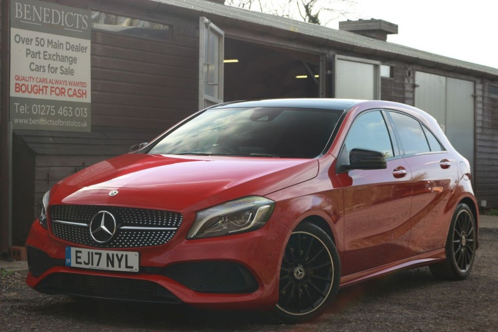 USED 2017 17 MERCEDES-BENZ A-CLASS 1.6 A 180 AMG LINE PREMIUM PLUS 5d 121 BHP