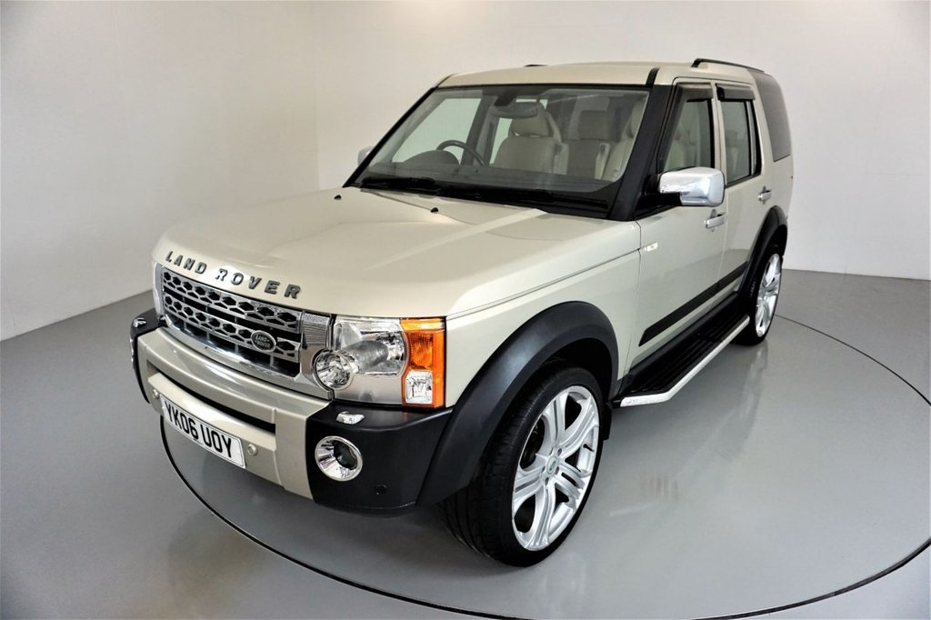 USED 2006 06 LAND ROVER DISCOVERY 3 2.7  TDV6 SE 5d AUTO 188 BHP-2 OWNER CAR FROM NEW-SIDE STEPS-HEATED LEATHER SEATS-ELECTRIC SEATS-AIR CON-5 SPOKE ALLOYS WHEELS-FANTASTIC EXAMPLE