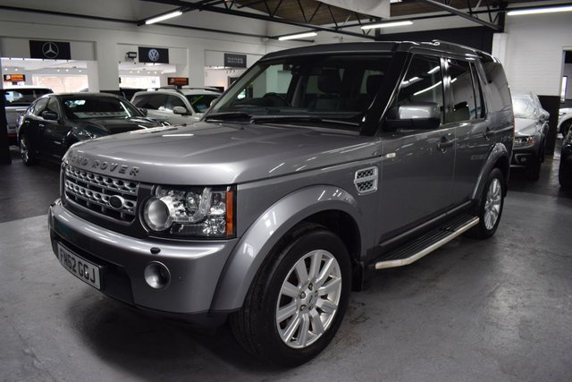 USED 2012 62 LAND ROVER DISCOVERY 4 3.0 4 SDV6 HSE 5d 255 BHP LOVELY CONDITION - 3.0 SDV6 255 BHP HSE - 6 SERVICE STAMPS TO 87K - ORKNEY GREY - LEATHER - NAV - PRIVACY GLASS - KEYLESS ENTRY - TRIPLE SUNROOFS - SIDE STEPS