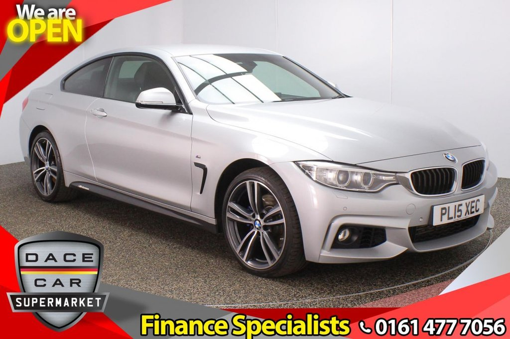 USED 2015 15 BMW 4 SERIES 3.0 435D XDRIVE M SPORT 2DR AUTO 309 BHP FULL SERVICE HISTORY + HEATED LEATHER SEATS + SATELLITE NAVIGATION + HARMAN/KARDON PREMIUM SPEAKERS + PARKING SENSOR + BLUETOOTH + CRUISE CONTROL + CLIMATE CONTROL + MULTI FUNCTION WHEEL + XENON HEADLIGHTS + PRIVACY GLASS + ELECTRIC FRONT SEATS + DAB RADIO + AUX/USB PORT + ELECTRIC WINDOWS + ELECTRIC/HEATED/FOLDING DOOR MIRRORS + 19 INCH ALLOY WHEELS