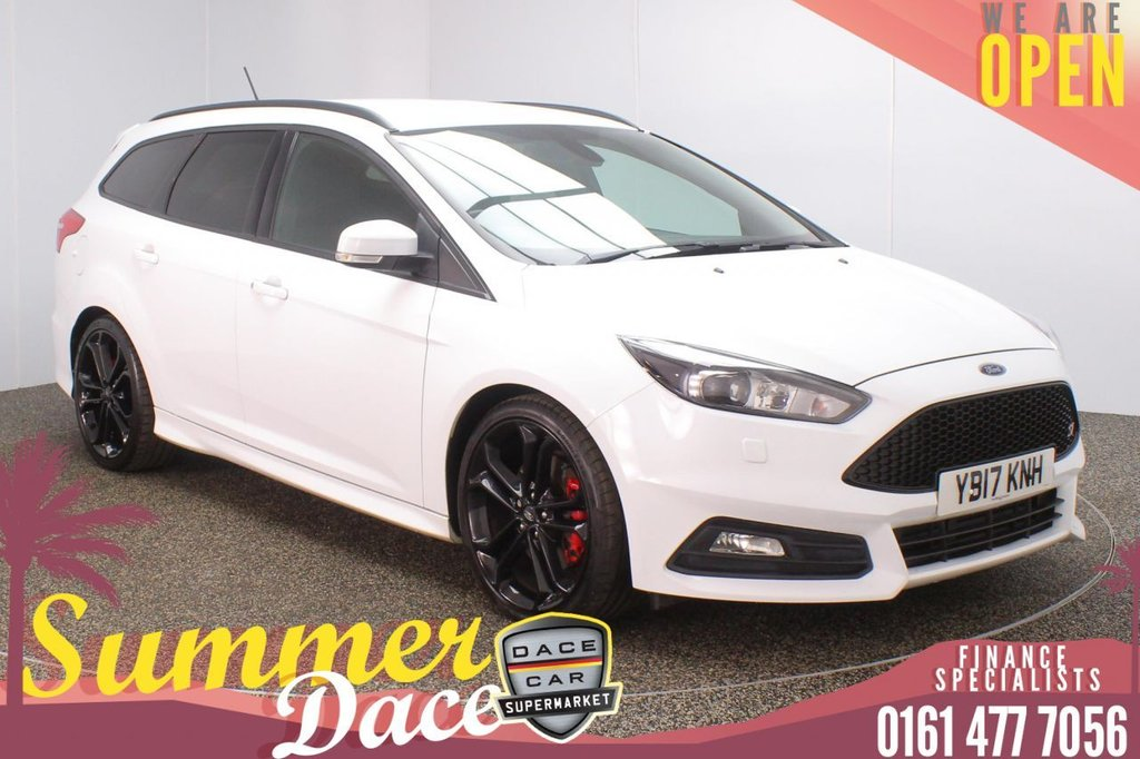USED 2017 17 FORD FOCUS 2.0 ST-3 TDCI 5DR 1 OWNER 183 BHP FULL MAIN DEALER SERVICE HISTORY + HEATED LEATHER SEATS + SATELLITE NAVIGATION + PARKING SENSOR + BLUETOOTH + CRUISE CONTROL + CLIMATE CONTROL + MULTI FUNCTION WHEEL + XENON HEADLIGHTS + PRIVACY GLASS + ELECTRIC FRONT SEATS + DAB RADIO + USB PORT + ELECTRIC WINDOWS + ELECTRIC/HEATED/FOLDING DOOR MIRRORS + 19 INCH BLACK ALLOY WHEELS