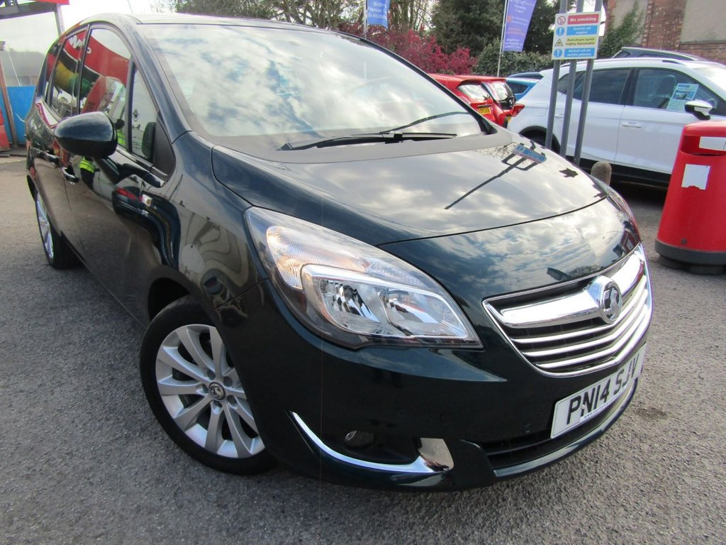 USED 2014 14 VAUXHALL MERIVA 1.4 SE 5d 138 BHP ** immaculate condition ** lowest miles on net ** full service history ** panoramic roof ** Front & rear park sensors ** low rate finance ** Free AA breakdown cover **