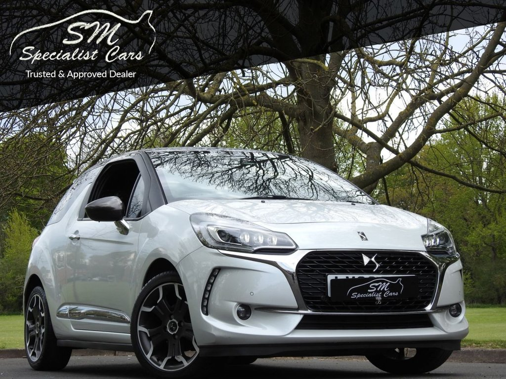 USED 2016 66 DS DS 3 1.6 BLUEHDI ULTRA PRESTIGE S/S 3d 118 BHP ONLY 40K FROM NEW PEARL WHITE