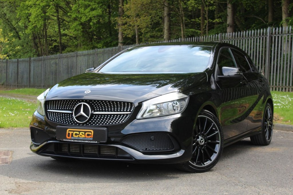 USED 2018 18 MERCEDES-BENZ A-CLASS 1.5 A 180 D AMG LINE 5d 107 BHP A GORGEOUS ONE OWNER A CLASS WITH NIGHT PACKAGE, 18 INCH ALLOYS, FULL SERVICE HISTORY AND MORE!!!