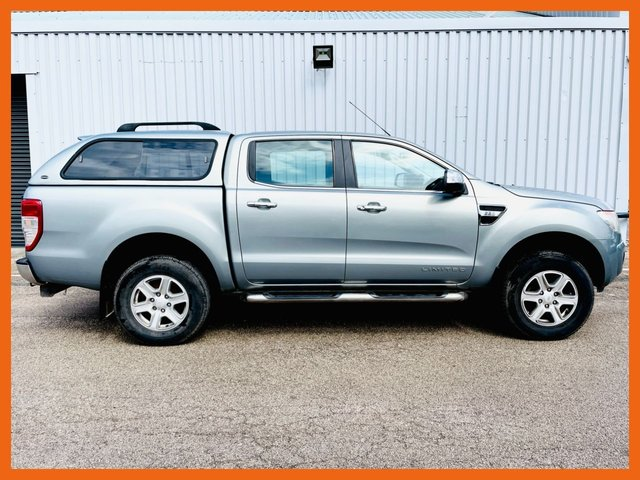 USED 2013 13 FORD RANGER 2.2 LIMITED 4X4 DCB TDCI 4d 148 BHP NO VAT - 12 MONTH MOT - RECENT SERVICE - TRUCK MAN TOP - 2 KEYS - TOW BAR FITTED - 3 MONTH WARRANTY - READY TO GO !