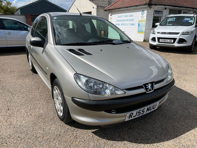 USED 2005 55 PEUGEOT 206 1.4 S 3d 74 BHP WARRANTED LOW MILEAGE