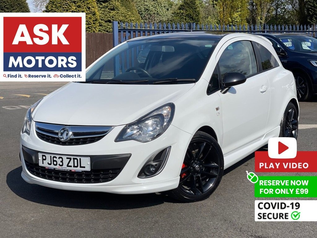 USED 2013 63 VAUXHALL CORSA 1.2 LIMITED EDITION 3d 83 BHP LOW INSURANCE GROUP