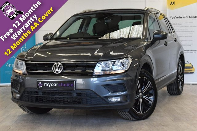 USED 2018 18 VOLKSWAGEN TIGUAN 2.0 SE NAV TDI BMT 4MOTION 5d 148 BHP FULL SERVICE HISTORY, DISCOVERY NAVIGATION, CAR NET APP CONNECT, TECHNOLOGY PACK, ELECTRIC FOLDING MIRRORS, PARKING AID