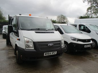 2014 FORD TRANSIT 2.2 350 DRW 125 BHP 4d Double Cab Tipper  £15650.00