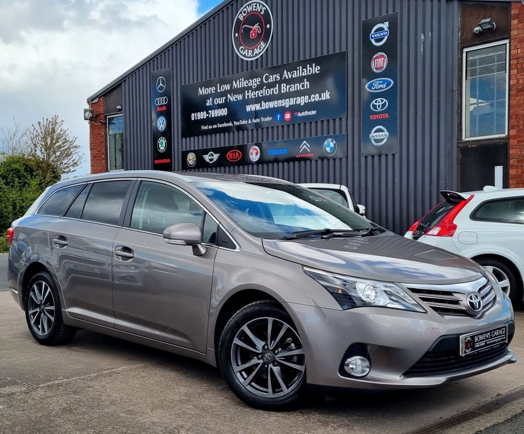 USED 2015 15 TOYOTA AVENSIS 1.8 VALVEMATIC ICON 5D 147 BHP ESTATE AUTO - 5 Services - Low Miles