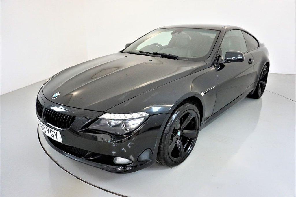 USED 2010 60 BMW 6 SERIES 3.0 635D SPORT 2d-HEATED BLACK DAKOTA LEATHER-SOFT CLOSE DOORS-CRUISE CONTROL-RPOFESSIONAL NAVIGATION-CLIMATE CONTROL