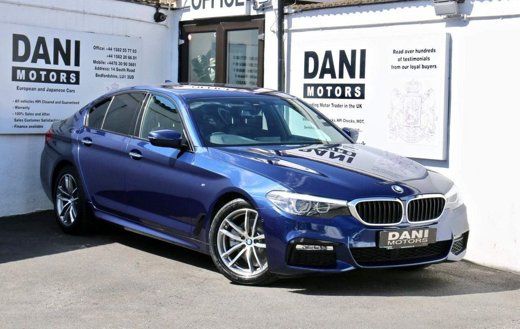 USED 2017 17 BMW 5 SERIES 2.0 520d M Sport Auto (s/s) 4dr 1 OWNER*SATNAV*PARKING AID