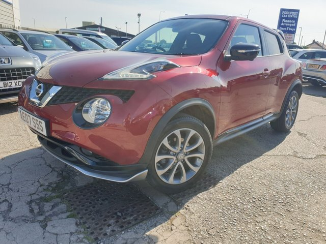 USED 2015 15 NISSAN JUKE 1.6 TEKNA XTRONIC 5d 117 BHP *** FINANCE & PART EXCHANGE WELCOME *** 1 OWNER FROM NEW 10,000 MILES AUTOMATIC SAT/NAV 360 VIEW CAMERAS FULL LEATHER HEATED SEATS BLUETOOTH PHONE