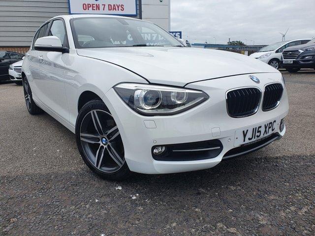 USED 2015 15 BMW 1 SERIES 2.0 116D SPORT 5d 114 BHP £30 TAX*FULL LEATHER*NAV*CRUISE*BTOOTH*PARKING SENSORS
