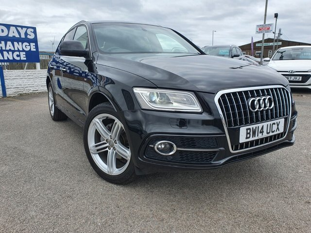 USED 2014 14 AUDI Q5 2.0 TDI QUATTRO S LINE PLUS S/S 5d 175 BHP *** FINANCE & PART EXCHANGE WELCOME *** SAT/NAV FULL BLACK LEATHER HEATED SEATS BLUETOOTH PHONE PARKING SENSORS PRIVACY GLASS