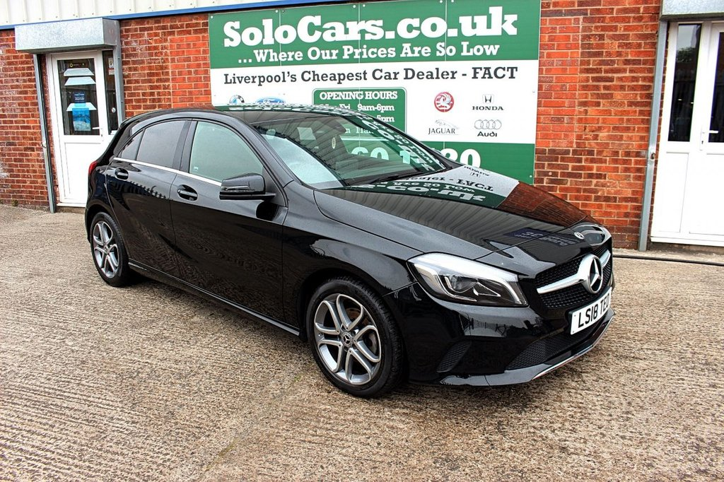 USED 2018 18 MERCEDES-BENZ A-CLASS 1.6 A 180 SPORT EDITION 5d 121 BHP +ONE OWNER +REVERSE CAM +NAV.