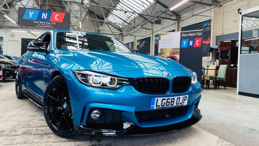 USED 2018 68 BMW 4 SERIES 2.0 420i GPF M Sport Gran Coupe Auto (s/s) 5dr PERFORMANCEKIT+20S+8SPEED+1OWN