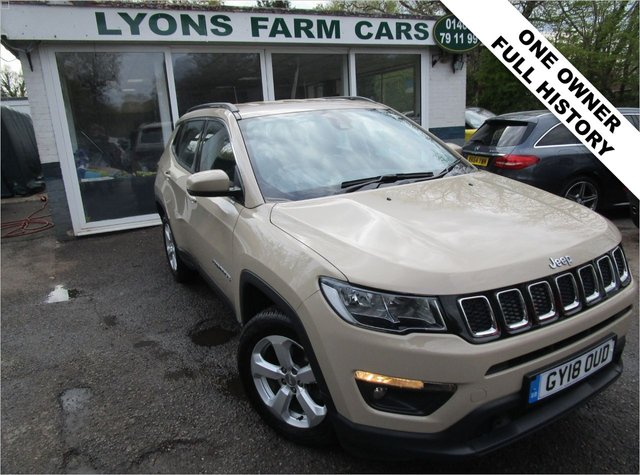USED 2018 18 JEEP COMPASS 1.4 MULTIAIR II LONGITUDE 5d 138 BHP Low Mileage, One Owner from new, Full Service History (Jeep Main Dealer + Just Serviced by ourselves), MOT until June 2022