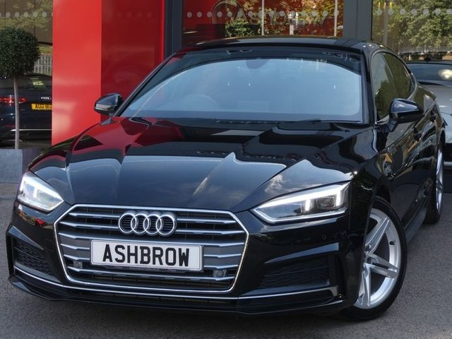 USED 2018 18 AUDI A5 SPORTBACK 2.0 TFSI S LINE 5d 190 AUTO S/S SAT NAV, HEATED FRONT SEATS, LEATHER ALCANTARA UPHOLSTERY, ELECTRIC FRONT SEATS, ELECTRIC TAILGATE, FRONT & REAR PARKING SENSORS WITH DISPLAY, BLUETOOTH PHONE & MUSIC STREAMING, DAB RADIO, AUDI SMARTPHONE FOR APPLE CARPLAY / ANDROID AUTO, 18 INCH ALLOYS, DRL'S, LEATHER TIPTRONIC MULTIFUNCTION STEERING WHEEL, LIGHT & RAIN SENSORS, CRUISE CONTROL WITH SPEED LIMITER, AUX & 2X USB, KEYLESS START, 3 ZONE CLIMATE CONTROL, AUTO HOLD, ILLUMINATING VANITY MIRRORS, 1 OWNER FROM NEW, SERVICE HISTORY, VAT Q