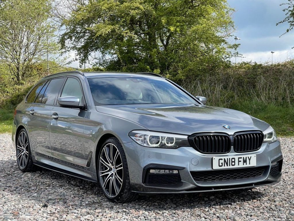 USED 2018 18 BMW 5 SERIES 3.0 530D M SPORT TOURING 5d 261 BHP Free Next Day Nationwide Delivery