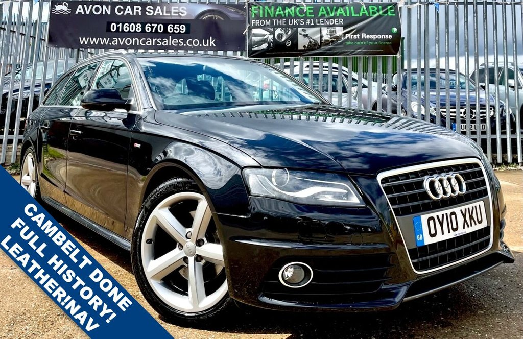 USED 2010 10 AUDI A4 2.0 AVANT TDI S LINE SPECIAL EDITION 5d 141 BHP AUTOMATIC! - FULL HISTORY! CAMBELT DONE IN 2020! 2 KEYS! SAT NAV! LEATHER!  3 PREV OWNERS!