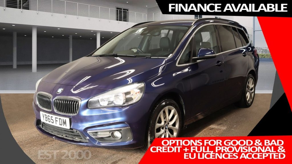USED 2015 65 BMW 2 SERIES 2.0 218D LUXURY GRAN TOURER 5d 148 BHP * 7 SEATS * CLIMATE  CONTROL * MOT OCTOBER * 17 INCH ALLOYS * NAVIGATION SYSTEM * PRIVACY GLASS *