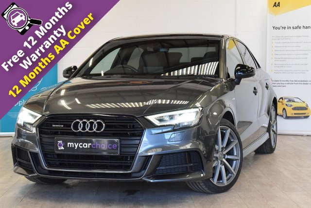 USED 2017 17 AUDI A3 2.0 TDI QUATTRO BLACK EDITION 4d 148 BHP FULL SERVICE HISTORY, SAT NAV, CRUISE, PRIVACY GLASS, AUDI SOUND SYSTEM, ELECTRIC FOLDING MIRRORS, INTERIOR LIGHTS PACK, LED HEADLIGHTS