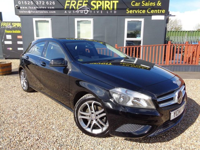USED 2014 14 MERCEDES-BENZ A-CLASS 2.1 A200 CDI Sport 7G-DCT 5dr Bluetooth, Part Leather