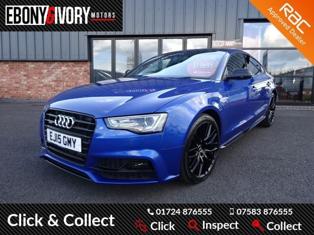USED 2015 15 AUDI A5 2.0 SPORTBACK TDI BLACK EDITION PLUS 5d 175 BHP EXCELLENT EXAMPLE+FULLY SERVICED+1 YEAR MOT+BREAKDOWN COVER