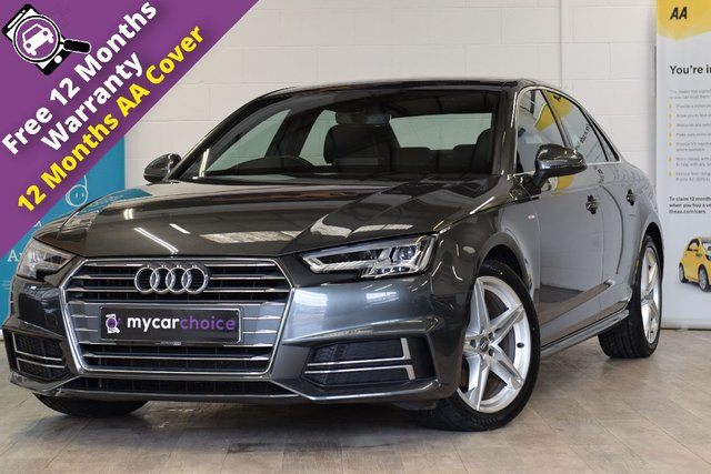 USED 2016 16 AUDI A4 2.0 TDI S LINE 4d AUTO 148 BHP FULL SERVICE HISTORY, SAT NAV, CRUISE, PARKING AID, HEATED SEATS, LED HEADLIGHTS, HIGH BEAM ASSIST, 4 WAY LUMBAR SUPPORT