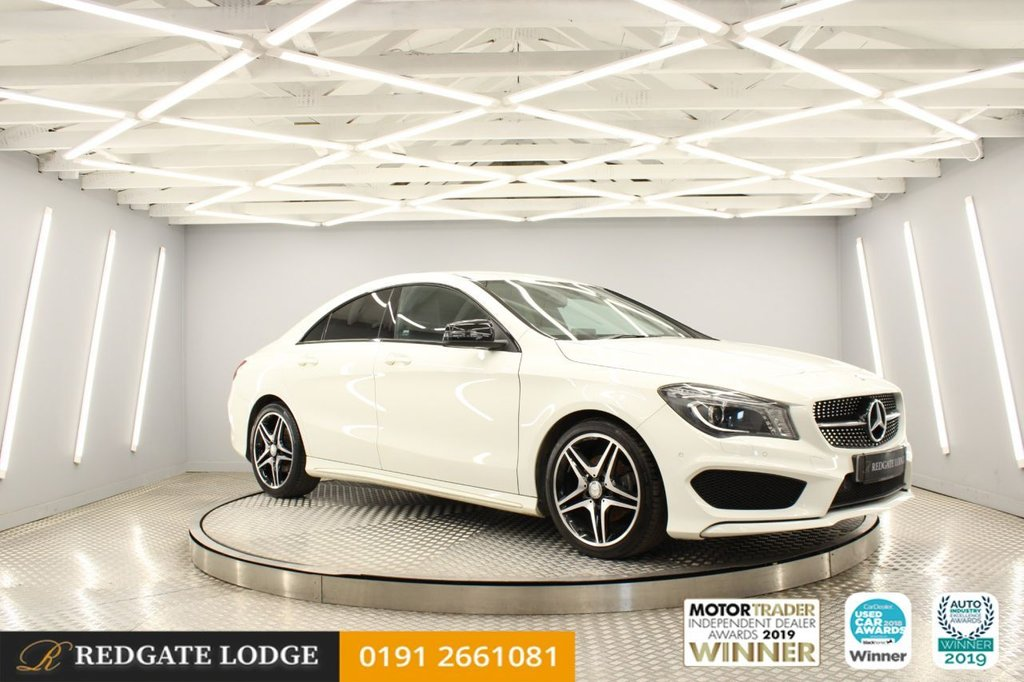 """USED 2015 65 MERCEDES-BENZ CLA 2.1 CLA 200 D AMG LINE 4d 134 BHP PRIVACY GLASS, NIGHT PACK, FRONT AND REAR SENSORS, BI-XENON HEADLIGHTS, 18"""" AMG ALLOYS..."""
