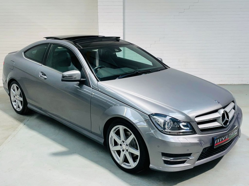 USED 2014 64 MERCEDES-BENZ C-CLASS 2.1 C220 CDI AMG SPORT EDITION PREMIUM PLUS 2d 168 BHP AMG Pack Glass Roof Reverse Cam Heated Leather FINANCE