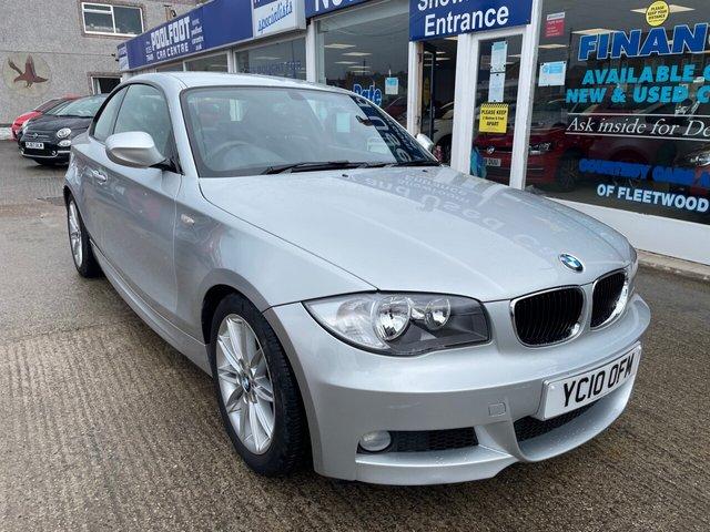 USED 2010 10 BMW 1 SERIES 2.0 118D M SPORT 2d 141 BHP £30 TAX*PART LEATHER*REAR PARKING SENSORS*STOP/START*AC