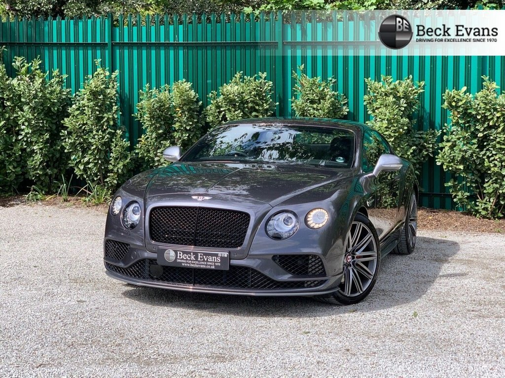 USED 2017 17 BENTLEY CONTINENTAL 4.0 GT V8 S 2d 520 BHP BLACK EDITION