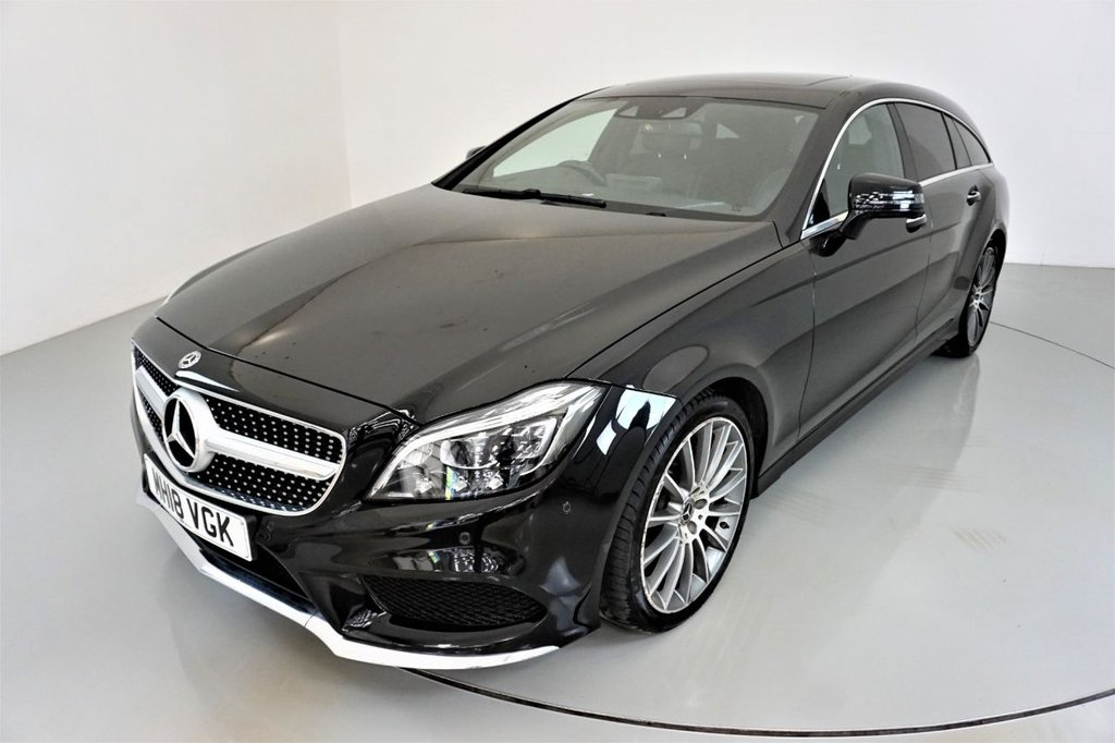 USED 2018 18 MERCEDES-BENZ CLS-CLASS 3.0 CLS350 D AMG LINE PREMIUM PLUS 5d AUTO-1 OWNER CAR-PANORAMIC SUNROOF-19