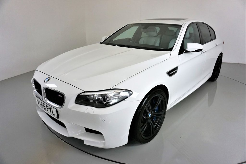 USED 2016 66 BMW M5 4.4 M5 4d AUTO 553 BHP-2 OWNER CAR-SUPERB LOW MILEAGE EXAMPLE-SUNROOF-HEATED SILVERSTONE MERINO LEATHER-20