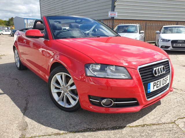 USED 2011 11 AUDI A3 1.8 TFSI SPORT 2d 158 BHP FINANCE ARRANGED**PART EXCHANGE WELCOME**CONVERTIBLE ROOF*6 SPEED*CD*AC*12 MONTH MOT*AUX SOCKET*CLIMATE*RCL