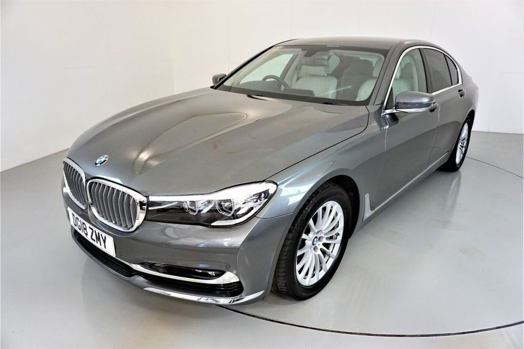 USED 2018 18 BMW 7 SERIES 3.0 730D EXCLUSIVE 4d AUTO-1 OWNER CAR-LOW MILEAGE-IVORY WHITE NAPPA LEATHER-COMFORT ACCESS-SOFT CLOSE DOORS-REVERSE CAMERA-COMFORT SEATS FRONT AND REAR WITH ELECTRIC ADJUSTMENT-HEATED FORNT AND REAR SEATS-MASSAGE FRONT SEATS-AMBIENT LIGHTING-AUTO HIGH BEAM HEADLIGHTS-BLUETOOTH-CRUISE CONTROL-PROFESSIONAL NAVIGATION-PARKING SENSORS-DAB RADIO-CLIMATE CONTROL