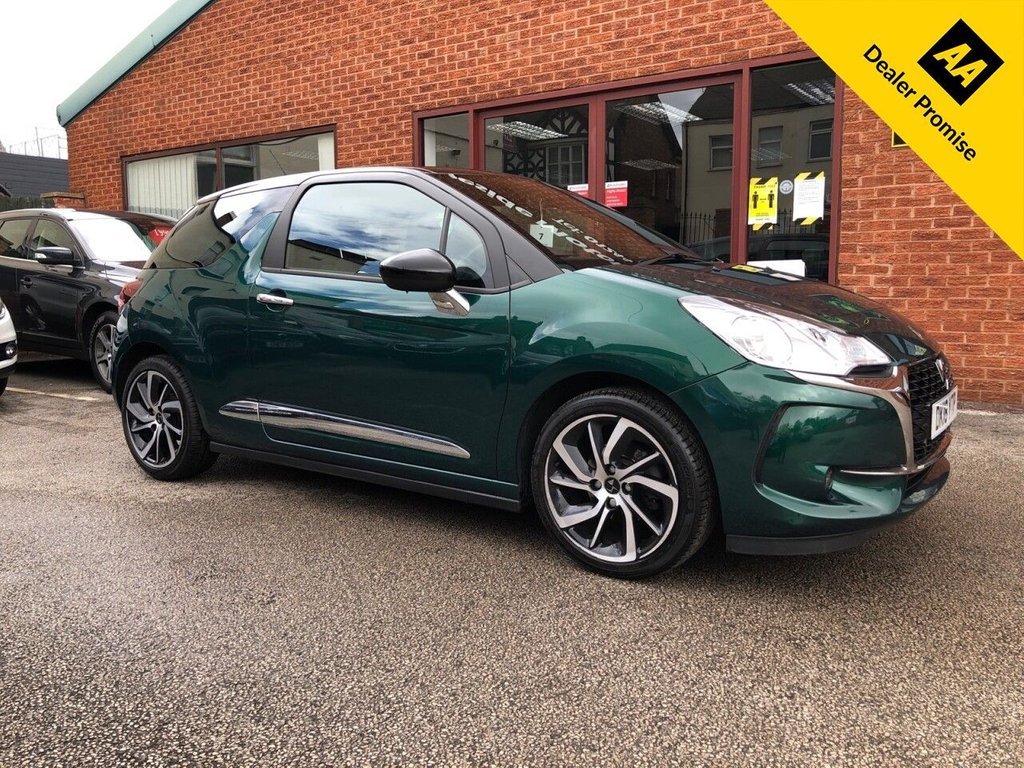 USED 2018 18 DS DS 3 1.2 PURETECH CONNECTED CHIC 3d 80 BHP Full service history :   Bluetooth  :  Sat Nav  :  DAB Radio  :  Cloth upholstery  :  Isofix fittings  :  Air-conditioning  :   Cruise control/Speed limiter  :  Rear parking sensors  :  Rear parcel shelf